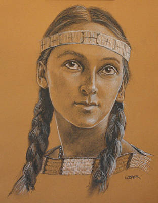 Drawing - Lucille Dakota by Todd Cooper