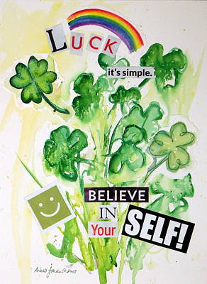 Painting - Luck It's Simple by Anna Jacke
