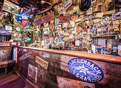 Photograph - Luckenbach Bar by Andy Crawford