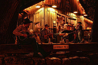 Photograph - Luckenbach Entertainment by Judy Vincent