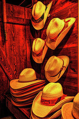 Photograph - Luckenbach Hats Hdr by Judy Vincent