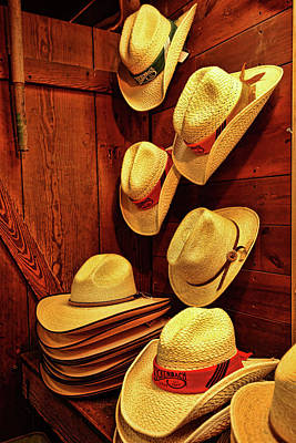 Photograph - Luckenbach Hats by Judy Vincent