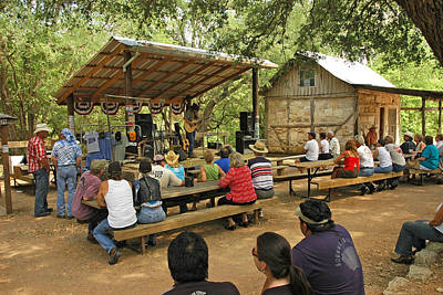 Luckenbach Music Art Print by Robert Anschutz
