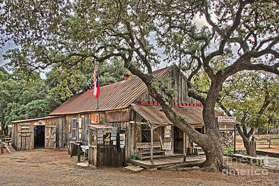 Photograph - Luckenbach Post Office And General Store_1 by Sam Stanton