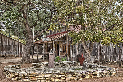 Photograph - Luckenbach Post Office And General Store_3 by Sam Stanton