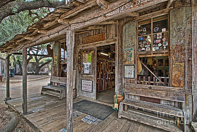Photograph - Luckenbach Post Office And General Store_4 by Sam Stanton
