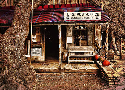 Photograph - Luckenbach Post Office by Judy Vincent