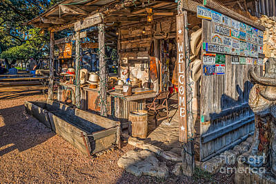 Luckenbach Photograph - Luckenbach Snail Creek Hat Shop by Tod and Cynthia Grubbs