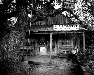 Print featuring the photograph Luckenbach Texas by David Morefield