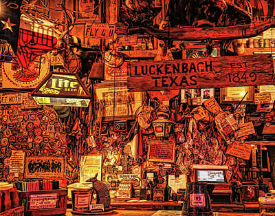 Photograph - Luckenbach Texas Est 1849 In Hdr by Judy Vincent