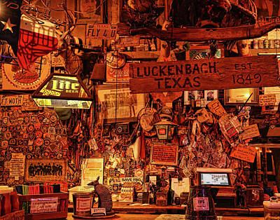 Photograph - Luckenbach Texas Est 1849 by Judy Vincent