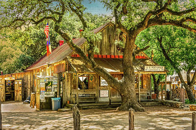 Photograph - Luckenbach Texas General Store And Saloon by Debra Martz