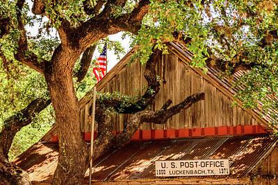 Photograph - Luckenbach Texas Post Office by Debra Martz