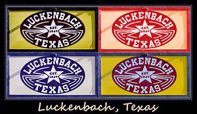 Luckenbach Photograph - Luckenbach Texas Poster by Joan Carroll