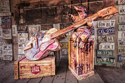 Photograph - Luckenbach's Guitar-playing Armadillo by Andy Crawford
