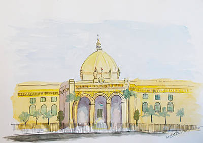 Painting - Lucknow Assembly by Keshava Shukla