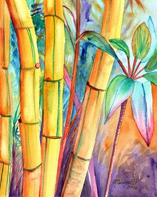 Painting - Lucky Bamboo by Marionette Taboniar