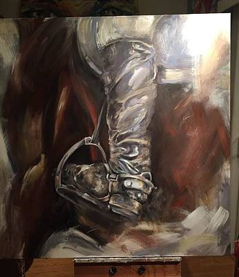 Painting - Lucky Boots by Heather Roddy