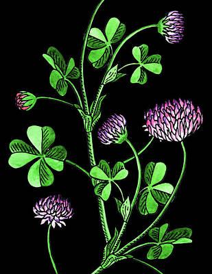 Painting - Lucky Clover Watercolour by Irina Sztukowski