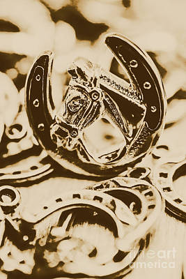 Wealth Photograph - Lucky Cowboys Charm by Jorgo Photography - Wall Art Gallery