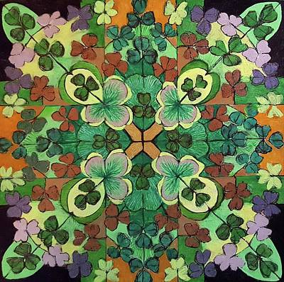 Whimsically Poetic Photographs - LUCKY DAY  Mandala by Ethel Mann