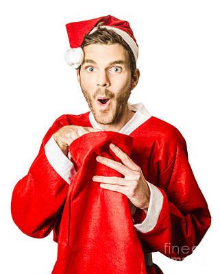 Eve Photograph - Lucky Dip Santa Giving The Gift Of Joy by Jorgo Photography - Wall Art Gallery