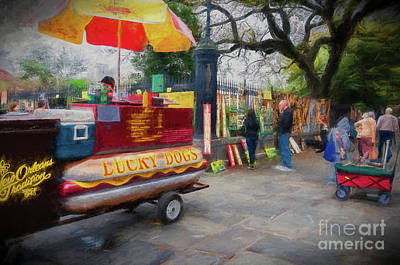 Photograph - Lucky Dogs And Jackson Square - Nola by Kathleen K Parker