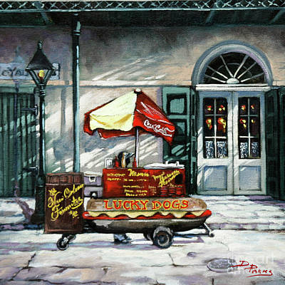 Jackson Square Painting - Lucky Dogs by Dianne Parks