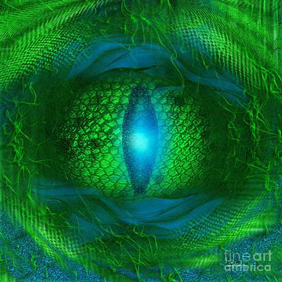 Lucky Dragon's Eye - Abstract Art By Giada Rossi Art Print