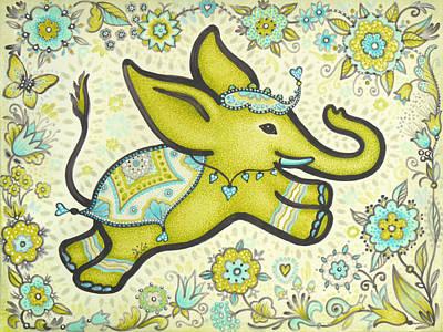 Lucky Elephant Moss-green Original