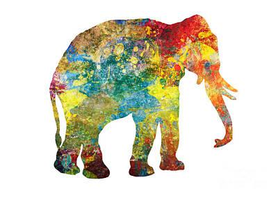 Animals Digital Art - Lucky Elephant Painting by Justyna JBJart