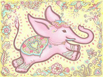 Lucky Elephant Rose Original