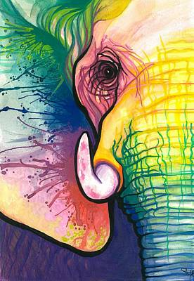 Elephants Painting - Lucky Elephant Spirit by Sarah Jane