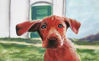 Lucky Dogs Wall Art - Painting - Lucky by Gayle  George