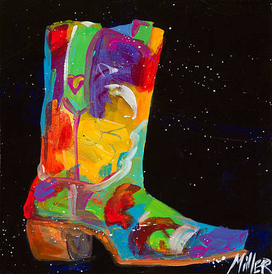 Cowgirl Boots Painting - Lucky Heart by Tracy Miller