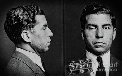 Photograph - Lucky Luciano Mug Shot by Doc Braham
