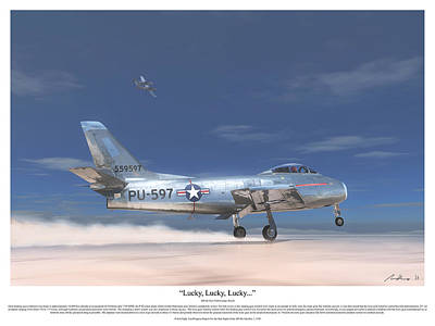 Test Painting - Lucky, Lucky, Lucky by Hangar B Productions