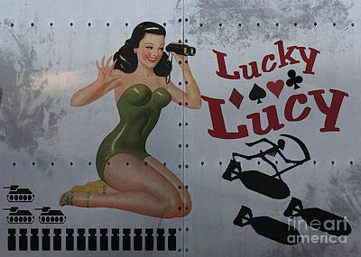 Classic Marine Art Painting - Lucky Lucy Noseart by Cinema Photography