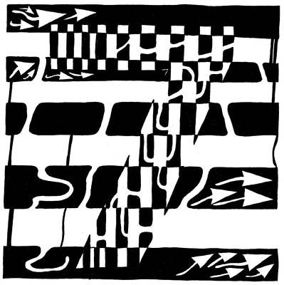 Learn To A Maze Drawing - Lucky Maze Number 7 by Yonatan Frimer Maze Artist