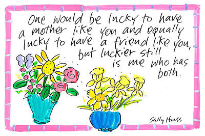 Wall Art - Painting - Lucky Mom by Sally Huss