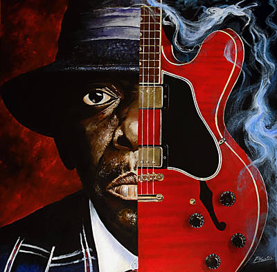 Painting - Lucky Peterson by Pascal Martos