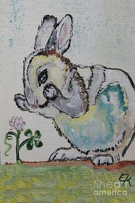 Painting - Lucky Rabbit Painting Print #895 by Ella Kaye Dickey
