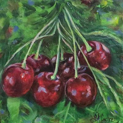 Painting - Lucky Seven, Cherries Tart And Sweet by Sandra Cutrer