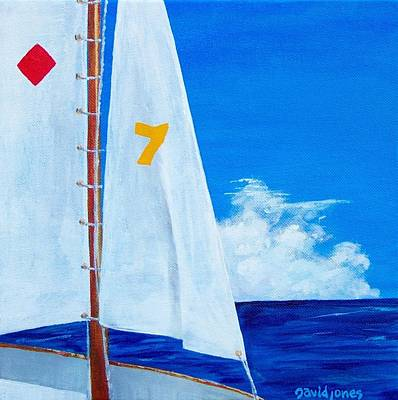Painting - Lucky Seven by Dave Jones
