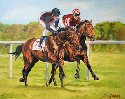 Race Horse Painting - Lucky Seven by Jana Goode