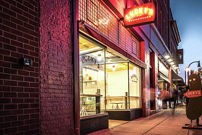 Photograph - Lucky's Delicatessen In Durham by Anthony Doudt