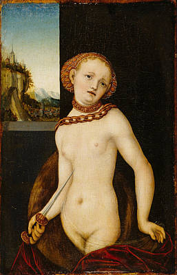 Painting - Lucretia 3 by Lucas Cranach the Elder