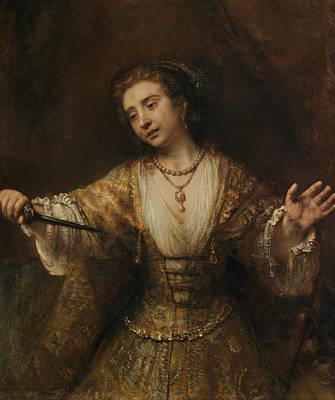 Lucretia  Art Print by Rembrandt