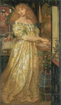 Borgia Painting - Lucrezia Borgia by Dante Gabriel