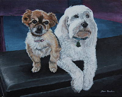 Painting - Lucy And Colby by Thom Barker